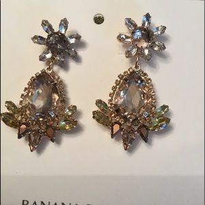 Amber crystal pineapple earrings 💎